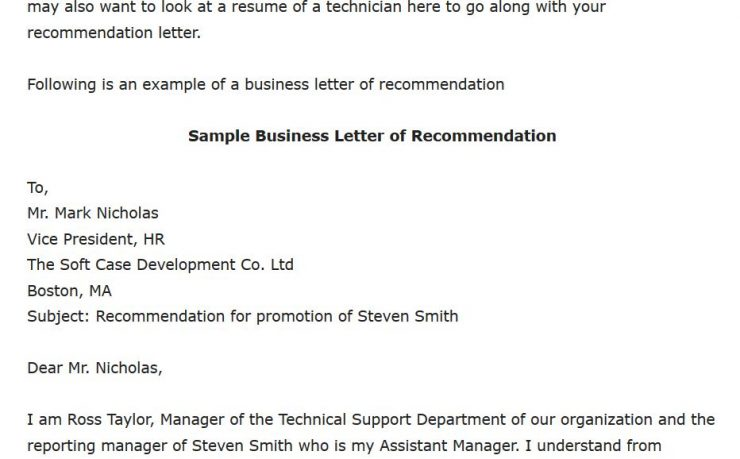 Letter Of Recommendation For Promotion from cecereads.com