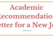 Academic Reference Letter for a New Job